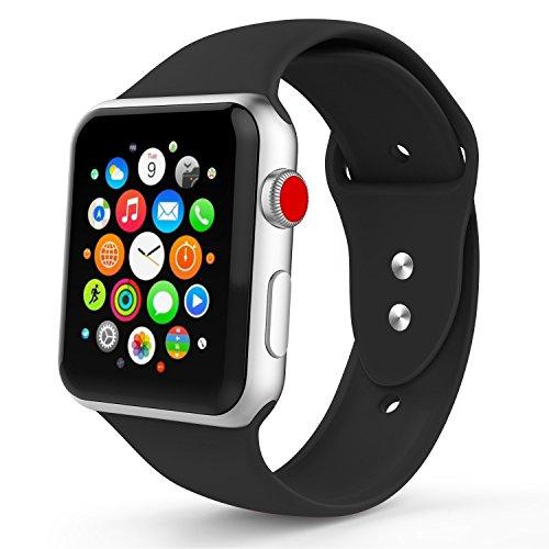 Iyou - Correa Deportiva Clásica de Repuesto, Silicona Suave, para iWatch 2017, Apple Watch Series 3/2/1, Edition, Nike+, Todos los Modelos, 38 mm/42 mm