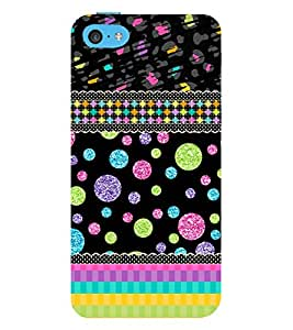 Glittery Bubbles Lines 3D Hard Polycarbonate Designer Back Case Cover for Apple iPod Touch 6 (6th Generation)