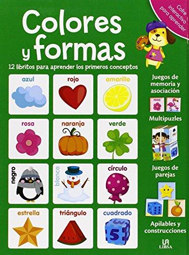 Colores y Formas: 12 Libritos para Aprender los Primeros Conceptos (Cofre Interactivo para Aprender)