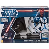Disfraces Darth Vader y Clone Trooper Star Wars en caja para niño