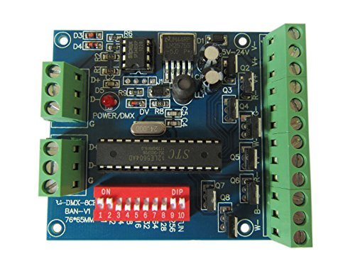 RGBW 8 Channel DMX Controller 2 Group RGBW 8CH Decoder for LED Strip Light -