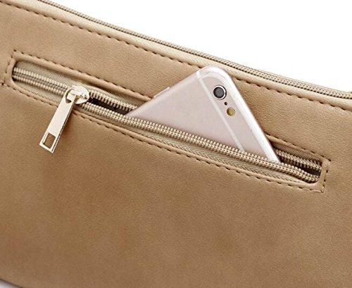 QPALZM Frau Beiläufige Quaste Kleine Quadratische Tasche Schulter Schräge Kreuzhandtasche Reißverschluss Schließen A8