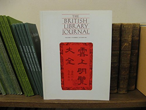 The British Library Journal, Volume 17, Number 2, Autumn 1991