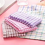 #10: Aloud Creations Multicolor Kitchen Towel / Kitchen Napkin / Table Wipe Pack of 10 Pcs (15*25 Inches)
