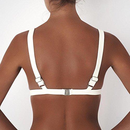 Vovotrade Femmes Débardeur T-shirt Sans Manches Veste de Sport Coupe Blouse Supérieure Soutien-gorge de Yoga Blanc