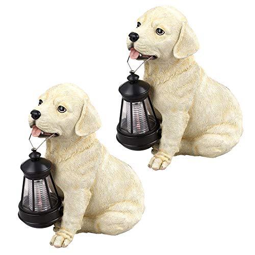 2er Set LED Solar Leuchten Garten Weg Außen Beleuchtung Hund Tier Figur Lampe Terrasse