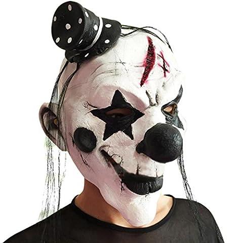 Enerhu Masque Clown avec Chapeau Déguisement Halloween Adulte Enfant #3