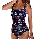 Alaso Badeanzug Günstig Online Kaufen Damen Retro Pad Push-Up Piece Badeanzug Badeanzug Badeanzug (L, Schwarz)