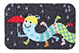 Salonloewe Tausendstiefler Fußmatte 025x039 cm Schmutzfangmatte waschbar SLD1742-025x039