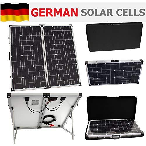 Este 150W photonic universo plegable solar kit incluye todo lo que necesitas para la carga de batería de 12V:-Alta eficiencia 75W + 75W plegable paneles solares-Advanced totalmente automatizado 10A controlador de carga solar con muchas func...