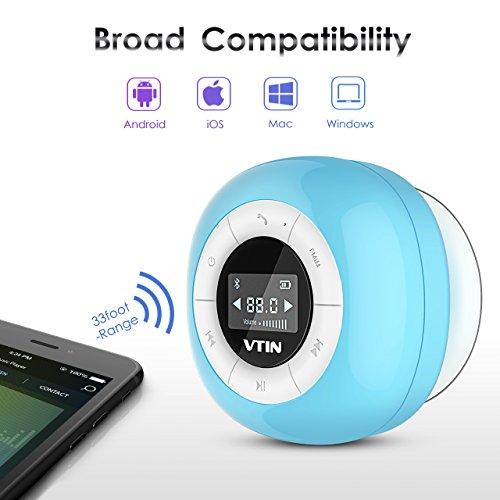 VTIN Mini Bluetooth 4.0 Lautsprecher Wasserdicht Wireless – Subwoofer Effekt für Handys - 6