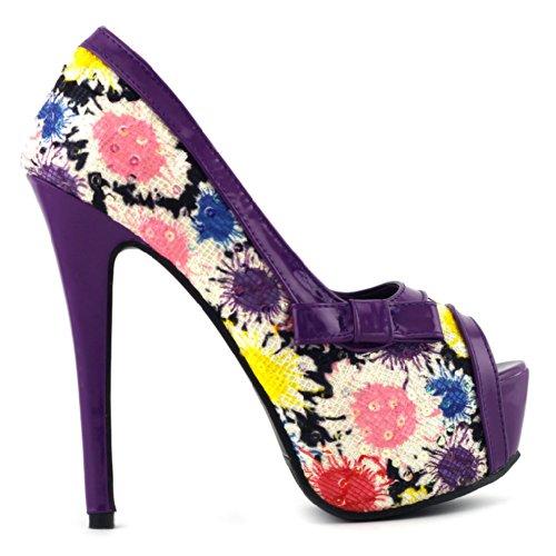 Show Story , Peep-Toe femme Violet - violet