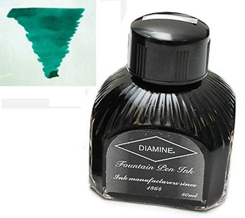 Diamine Refills Dark Green Bottled Ink 80mL - DM-7022 by Diamine -