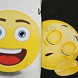 Just Contempo Bettwäsche-Set, Motiv: Emoji-Icon, Bettbezug-Set, mehrfarbig, Einzelbett -