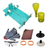 Short-Turquoise : Glass Bottle Cutter, [Gen-2 Version] AceList Stained Glass Cutting Tool Kit Glass Wine Jar Etching for DIY Glassware, Lamps, Vases, Candle Holders - Birthday, Holiday Gift Maker - Turquoise