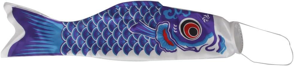 Imported 40cm Japanese Windsock Carp Flag Koi Nobori Sailfish Fish Wind Streamer Blue