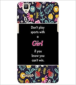 PrintDhaba Quote D-3154 Back Case Cover for OPPO F1 (Multi-Coloured)