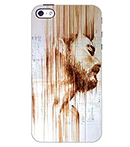 PrintDhaba BOY FACE ART D-6872 Back Case Cover for APPLE IPHONE 5 (Multi-Coloured)