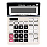 Calculadora científica Calculadora electrónica portátil de 12 dígitos, herramienta de cálculo de botón grande de plástico Juguete educativo de papelería de oficina escolar for estudiantes, KK-1200V pr