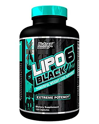 """Nutrex LIPO 6 BLACK """"HERS"""" *FOR WOMEN* EXTREME POTENCY FAT BURNER / DESTROYER 120 caps Diet & Weight Loss Support *NEW DMAA-Free Legal version Lipo6* from Nutrex"""