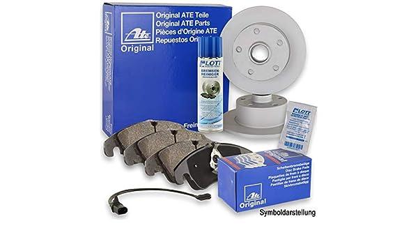 ATE Bremsbel/äge Bremskl/ötze Bremsenset Bremsenkit Komplettset Hinterachse Original ATE Bremsscheiben hinten Bremsenreiniger