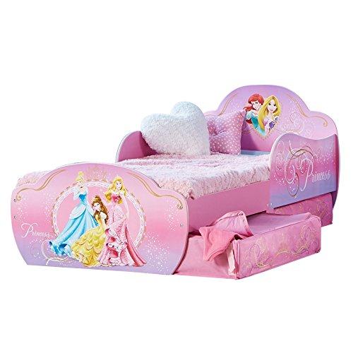 Kinderbett mit Schubladen Disney Princess 140x70cm - Kleinkinderbett (Disney Princess Möbel-set)