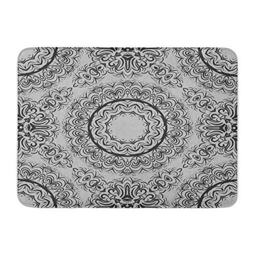 Alfombra de baño Flannelette Tela Suave Absorbente Floral Geométrico Patrón Mandala Super Bandana Scarg Colorido Acogedor Decorativo Antideslizante Memoria Alfombra de baño