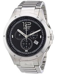 Esprit Herren-Armbanduhr XL Atropos silverblack Chronograph Quarz Edelstahl EL101421F06