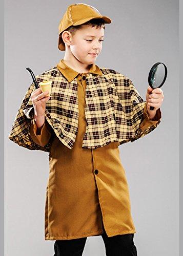 Magic Box Int. Kinder Sherlock Holmes Art-Detektiv-Kostüm Small -