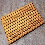 ZHANGQ Tapis antidérapants de pédale de bambou en bois massif Cuisine Salle de...