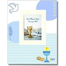 Edicromo Libro portarretratos de mi primera comunión azul