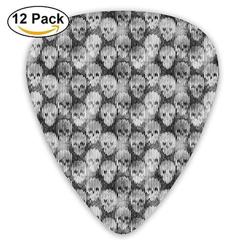 Knitting Texture With Brainpan Head Bone Pattern Guitar Picks 12/Pack Set -