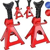 Timbertech – Chandelle à crémaillère – capacité (par chandelle) : 3 t – hauteur de levage : 280-425 mm - Set de 4 – Rouge – SET ET COLORIS AU CHOIX