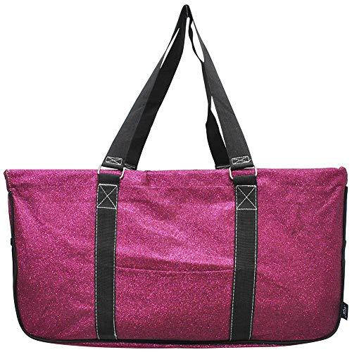 NGIL 2019 Einkaufstasche, 58 cm, klassisch, extragroß, Allzwecktasche, Pink (Glitter Hot Pink), X-Large