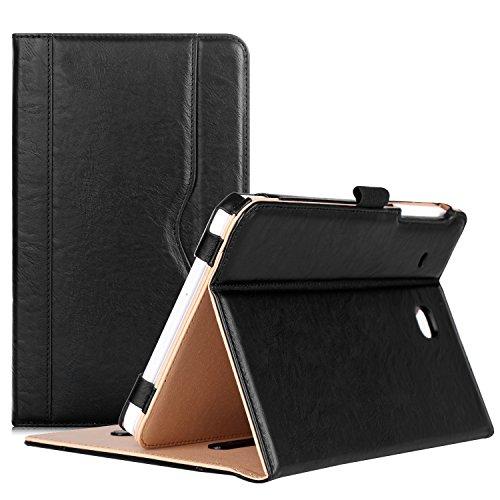 ProCase Samsung Galaxy Tab E 8.0 Hülle - Stand Folio Case Cover für Galaxy Tab E 8.0 4G LTE Tablet (Sprint,US Cellular, Verizon) SM-T377, mit Mehreren Blickwinkeln, Dokumentenkarte Tasche -Schwarz