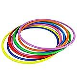STOBOK 12 Pezzi Anelli di Lancio in plastica Assortiti Giochi per Pratica di velocità e agilità (Colore Casuale)