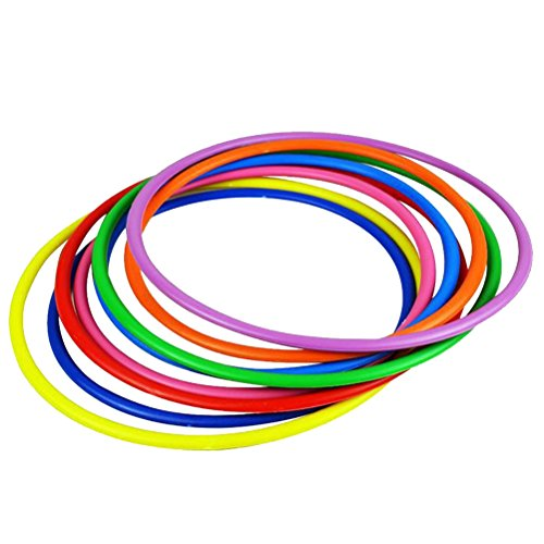STOBOK 12 Piezas Juego de Lanzamiento con Anillos Plásticos Juguietes para Niños...