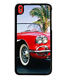 PrintVisa Vintage Red High Gloss Designer Back Case Cover for HTC Desire 816 :: HTC Desire 816 Dual Sim :: HTC Desire 816G Dual Sim