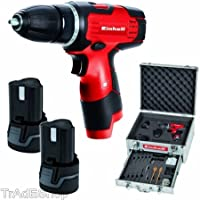 EinhellTrade TRAPANO AVVITATORE CON DOPPIA BATTERIA LITIO ACCESSORI EINHELL TH-CD 12-2 LI KIT