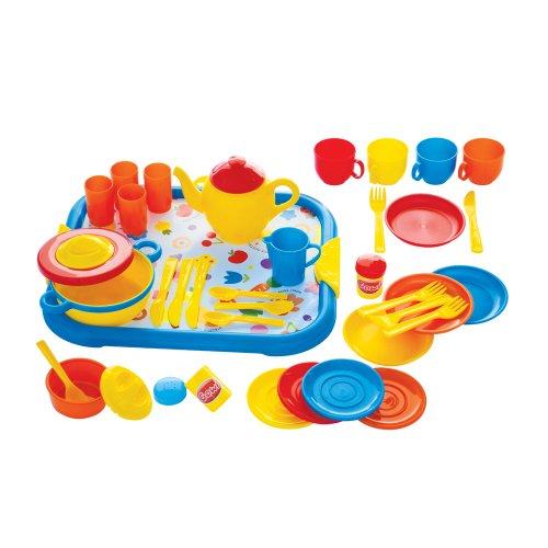 Gowi 454-37 Speiseservice Rom, Küchenspielzeug, 40 teilig