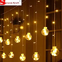Bulb shape curtain string light with Usb Plug in System. Do not open the plastic cassette on the main line to avoid the winding of the thread Due to factors such as lighting effects, brightness, contrast, etc., there may be a slight deviation between...