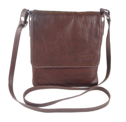 Italian Bag Company - Borsa a tracolla Donna Medium Brown