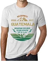 One in the City Hombre Camiseta Vintage T-Shirt Gráfico Guatemala Mountain Explorer Blanco Moteado