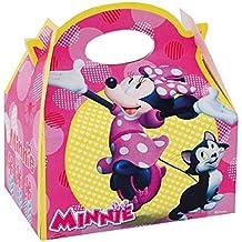 ALMACENESADAN 0660, Pack 4 cajitas de Carton para chuches Disney Minnie Mouse, para Fiestas
