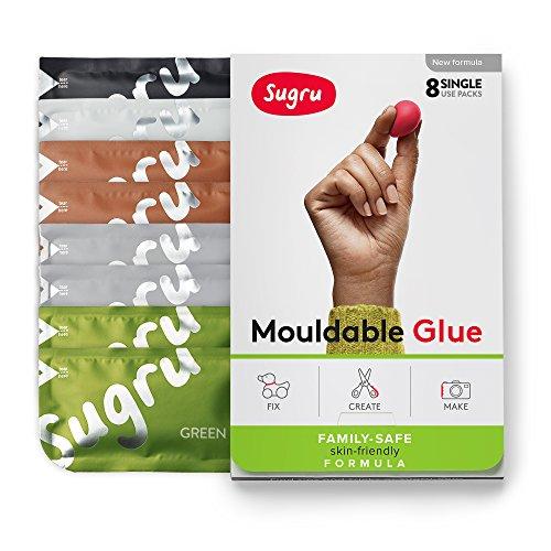Sugru modellabile colla–family-safe | formula ipoallergenico–colori naturali 8-pack
