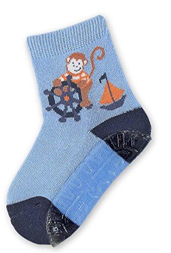 Fliesenflitzer Affe himmel Gr. 24 (Socke Affe-baby Blau)