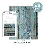 Craft Consortium Premium Decoupage Papier–Blau gebürstet Holz