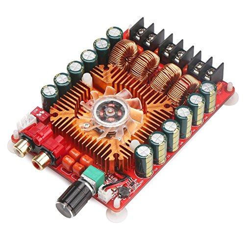 DollaTek TDA7498E 2x160W Dual Channel Audio Verstärker-Brett, Unterstützung BTL-Modus 1X220W Single Channel, DC 24V Digital Stereo Power Amp Modul für Auto-Träger-Computer-Lautsprecher DIY