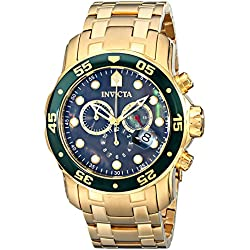 Invicta 80074 48mm Gold Steel Bracelet & Case flame fusion Men's Watch