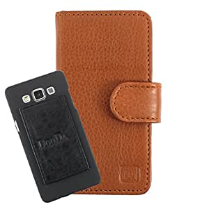 DooDa Genuine Leather Wallet Flip Case Cover With Card & ID Slots For Intex Aqua i5 - Back Cover Not Included Peel And Paste
